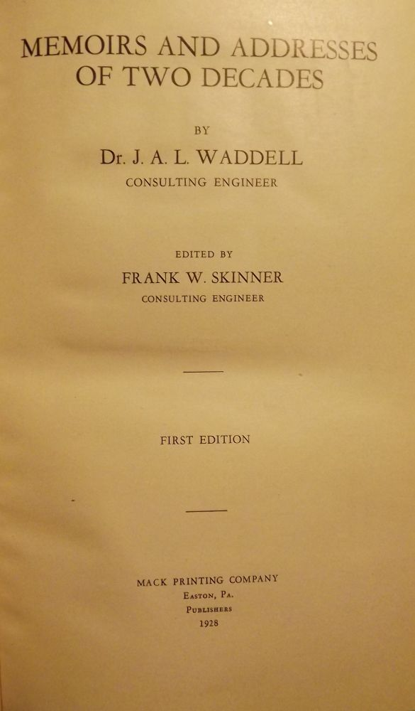 MEMOIRS AND ADDRESSES OF TWO DECADES. J. A. L. WADDELL.