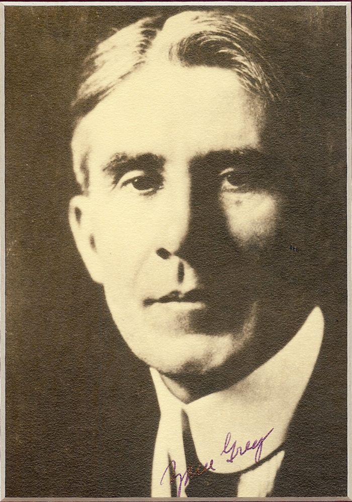 Signed Photograph. ZANE GREY.