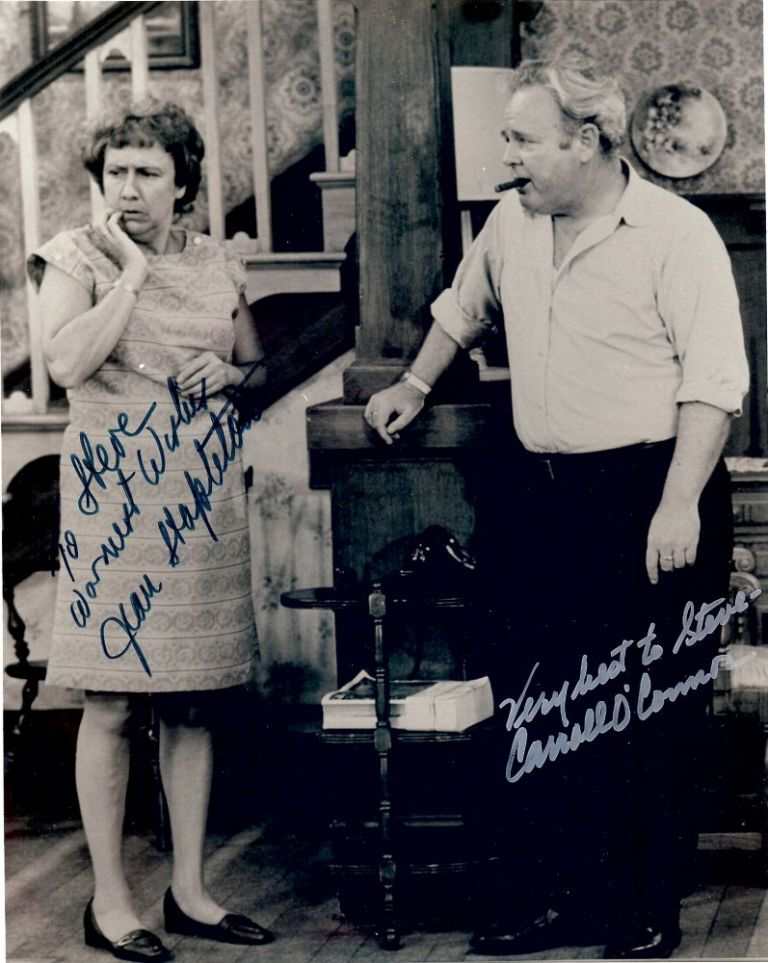 ALL IN THE FAMILY: SIGNED PHOTOGRAPH. Carroll O'CONNOR.