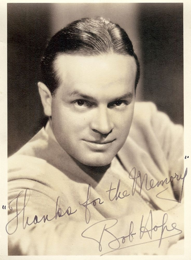 SIGNED PHOTOGRAPH. Bob HOPE.
