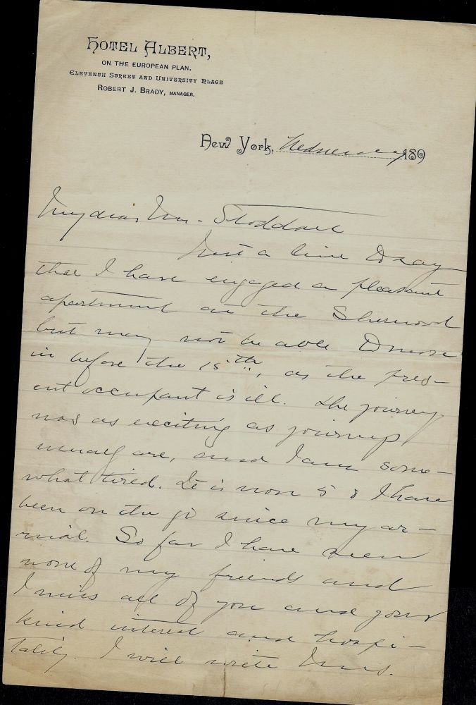 Autograph Letter Signed. Gertrude ATHERTON.