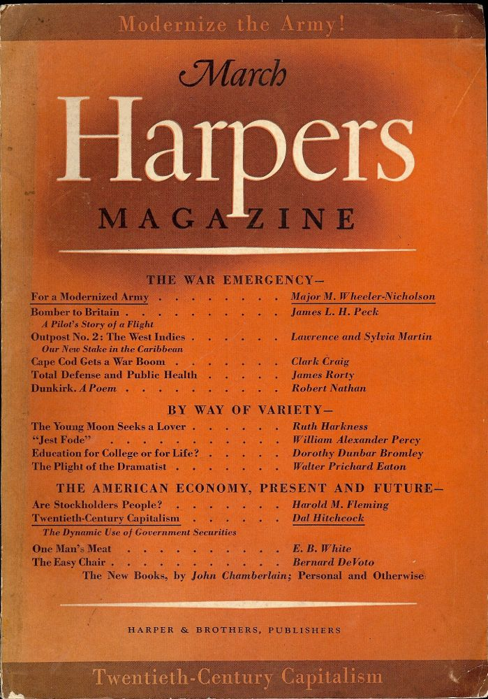 Dunkirk, In Harpers Magazine, March 1941. Robert NATHAN.