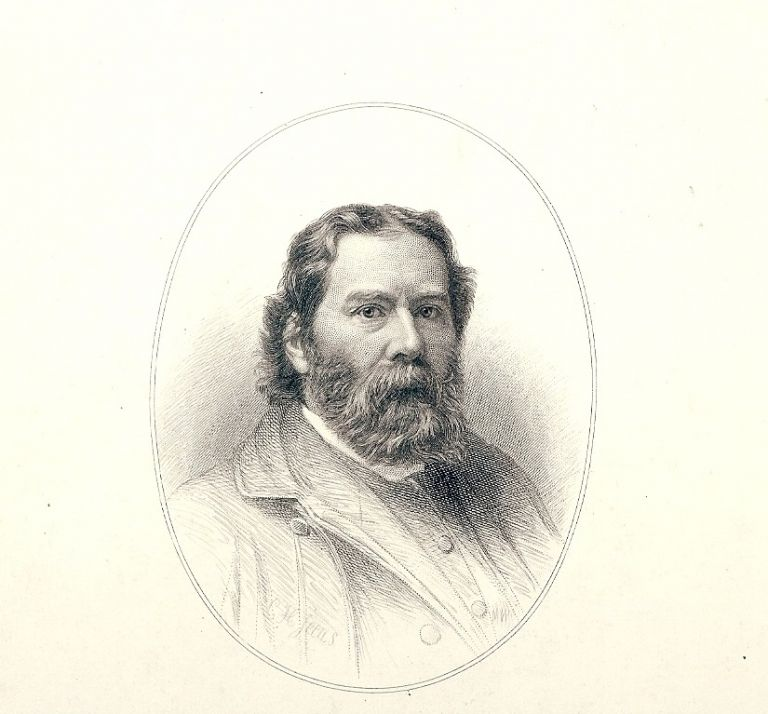 Steel-Engraved Portrait. JAMES RUSSELL LOWELL.