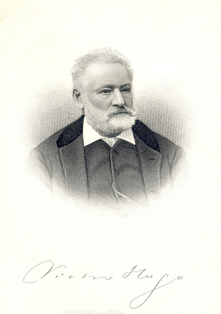 Cabinet Card Portait Engraving. Victor HUGO.