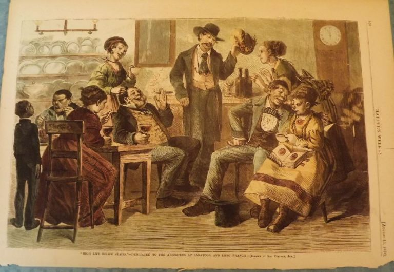 LONG BRANCH: HIGH LIFE BELOW THE STAIRS. HARPER'S WEEKLY.