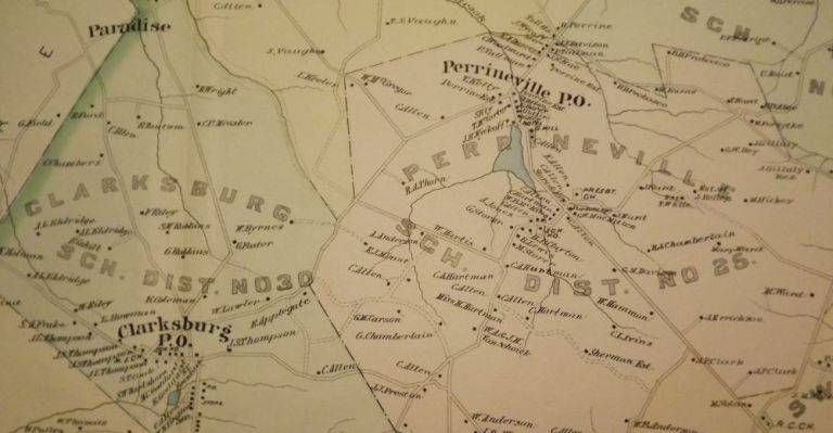 MILLSTONE TOWNSHIP MAP, 1889. WOLVERTON'S ATLAS OF MONMOUTH COUNTY.