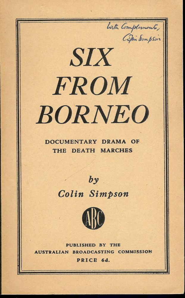 SIX FROM BORNEO. Colin SIMPSON.