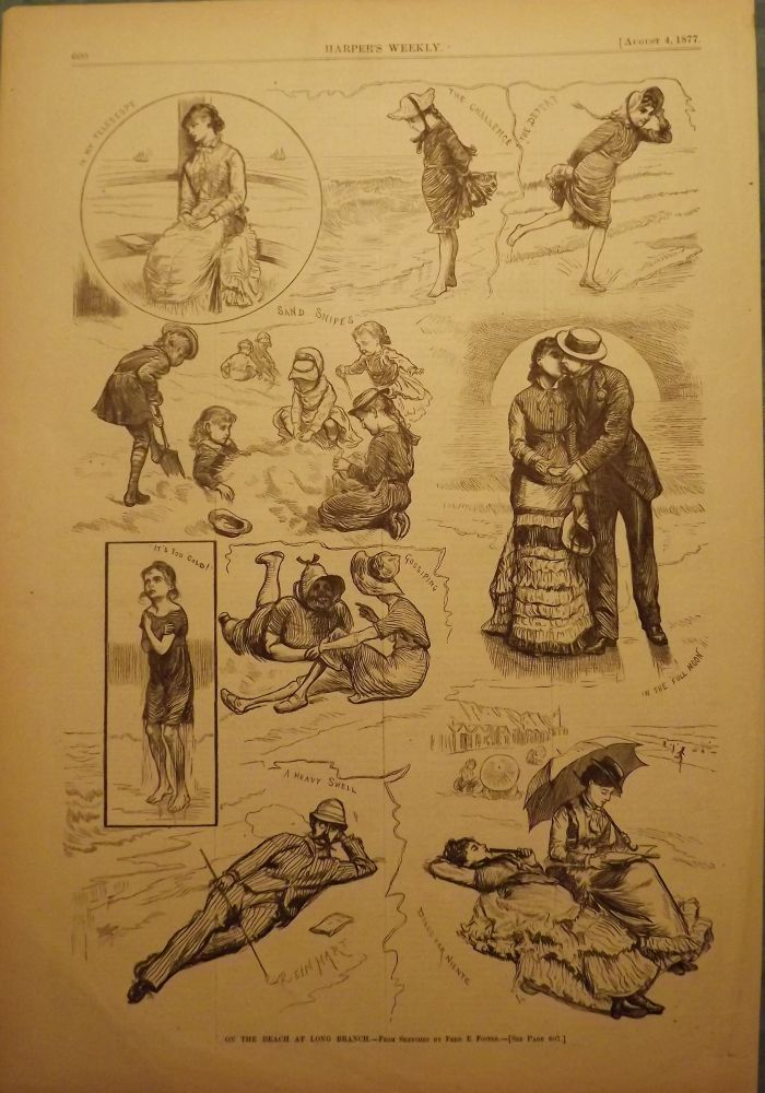 LONG BRANCH: ON THE BEACH. HARPER'S WEEKLY.
