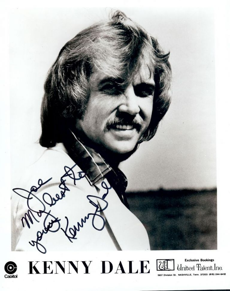 Signed Photograph. Kenny DALE.