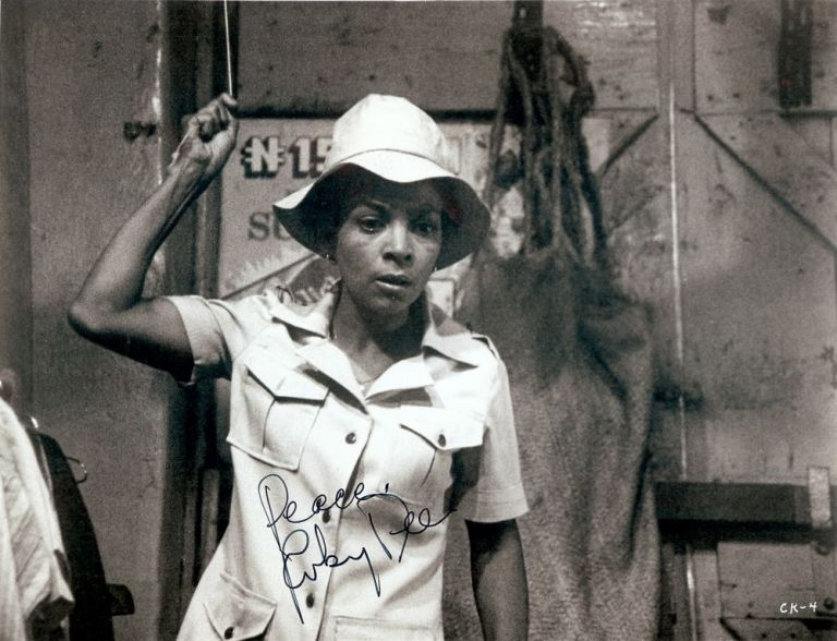 Signed Photograph. Ruby DEE.