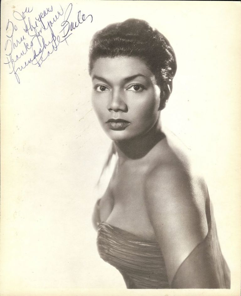 Signed Photograph. Pearl BAILEY.