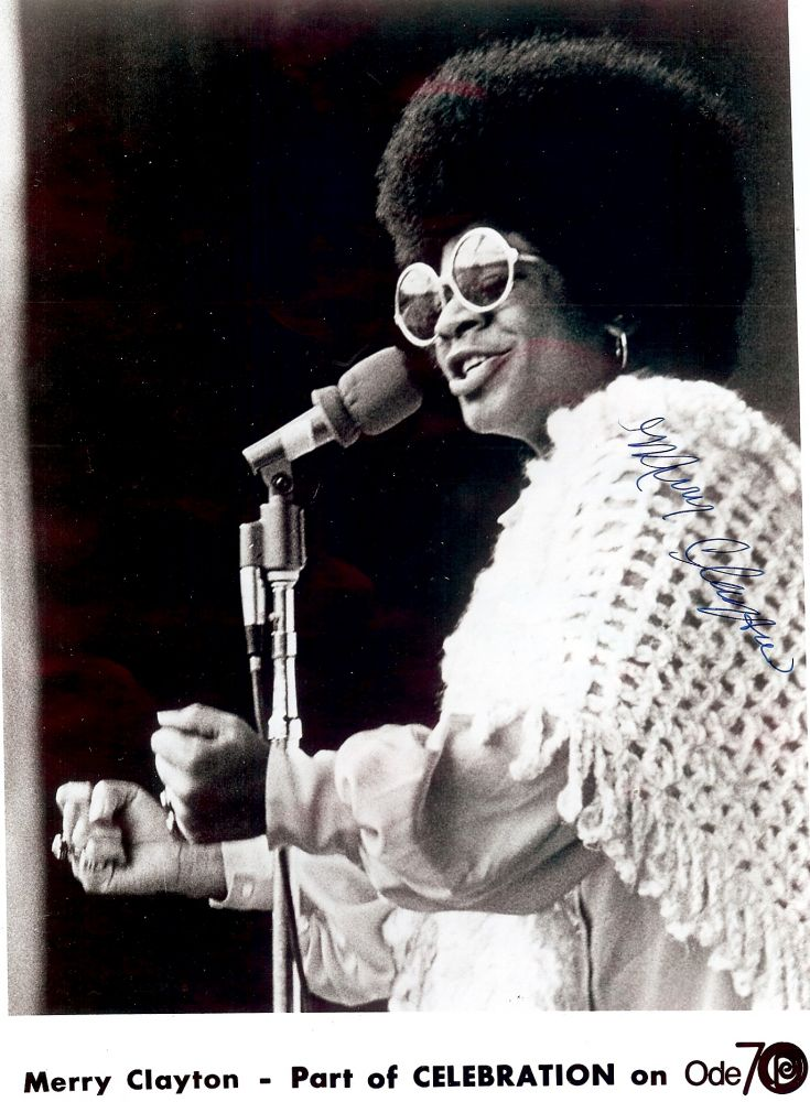 Signed Photograph. Merry CLAYTON.