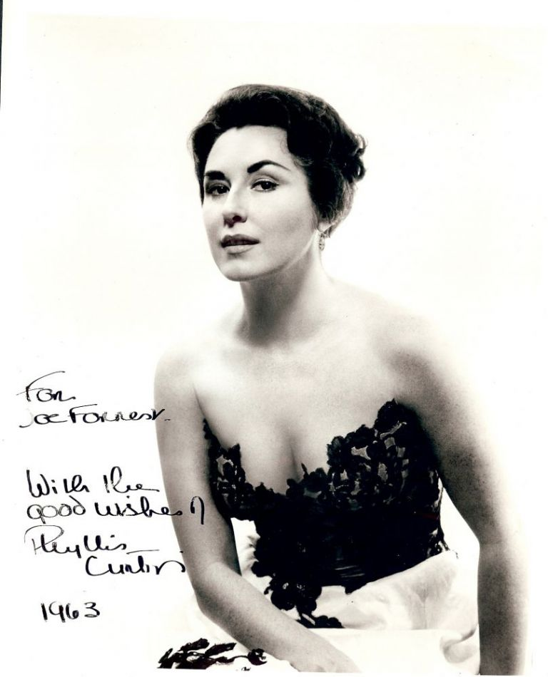 Signed Photograph. Phyllis CURTIN.