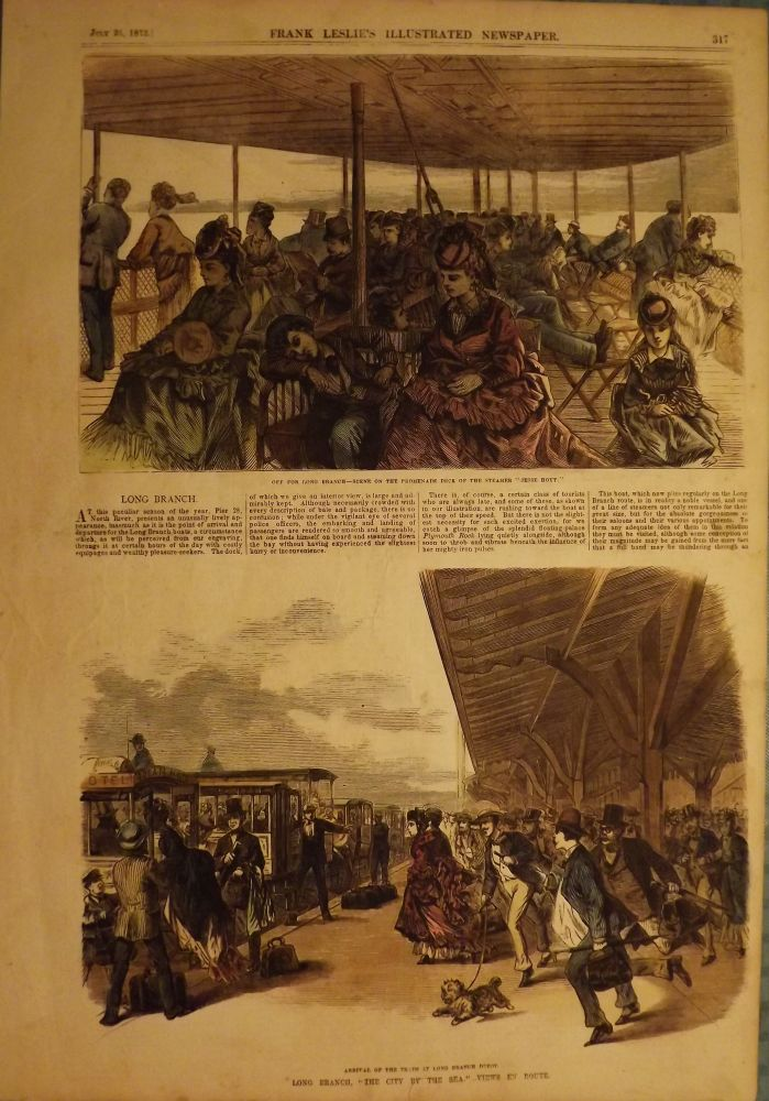LONG BRANCH: VIEWS EN ROUTE. FRANK LESLIE'S ILLUSTRATED NEWSPAPER.