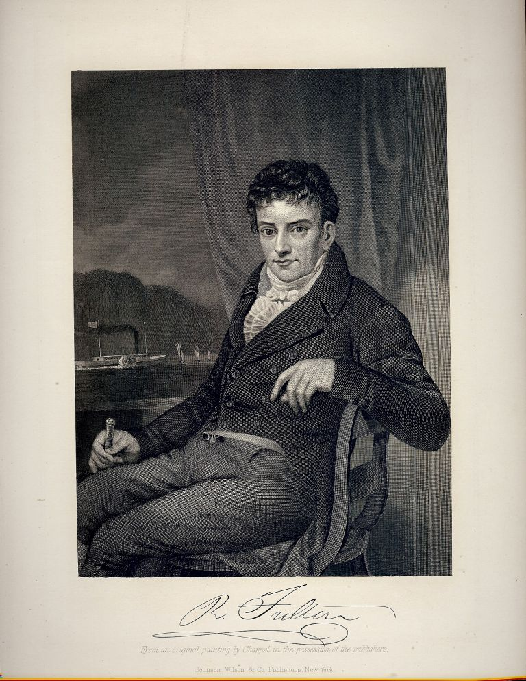 Steel-Engraved Portrait. Robert FULTON.
