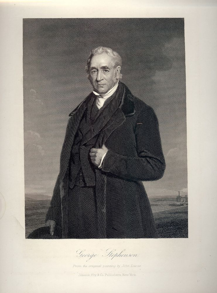 Steel-Engraved Portrait. George STEPHENSON.