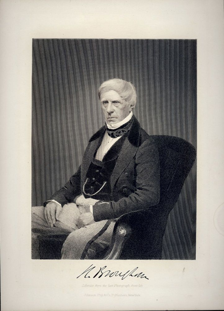 Steel-Engraved Portrait. Lord Henry BROUGHAM.
