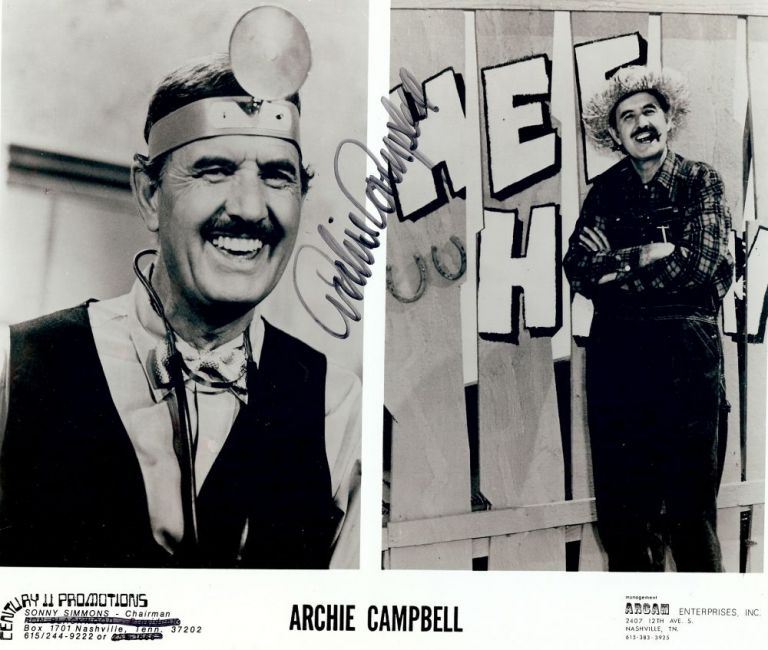 Signed Photograph. Archie CAMPBELL.