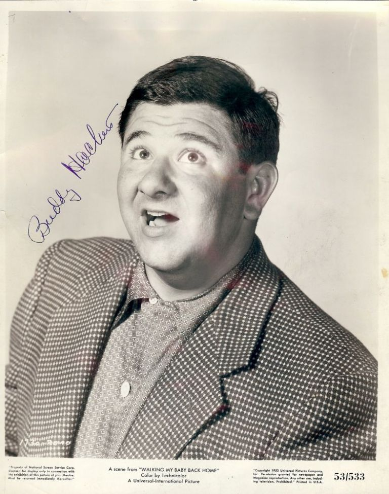 Signed Photograph. Buddy HACKETT.