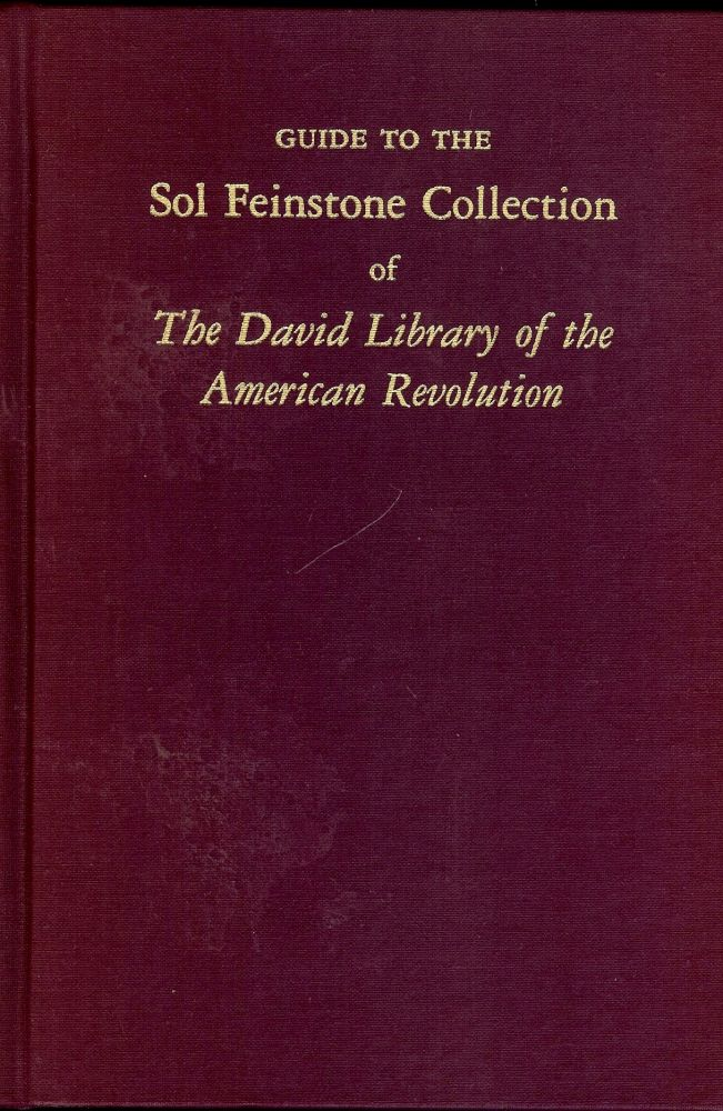 GUIDE TO THE SOL FEINSTONE COLLECTION. David J. FOWLER.