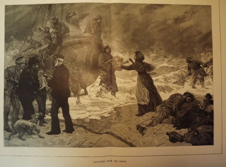 LIFE-SAVING: RETURN FROM THE WRECK. HARPER'S WEEKLY.