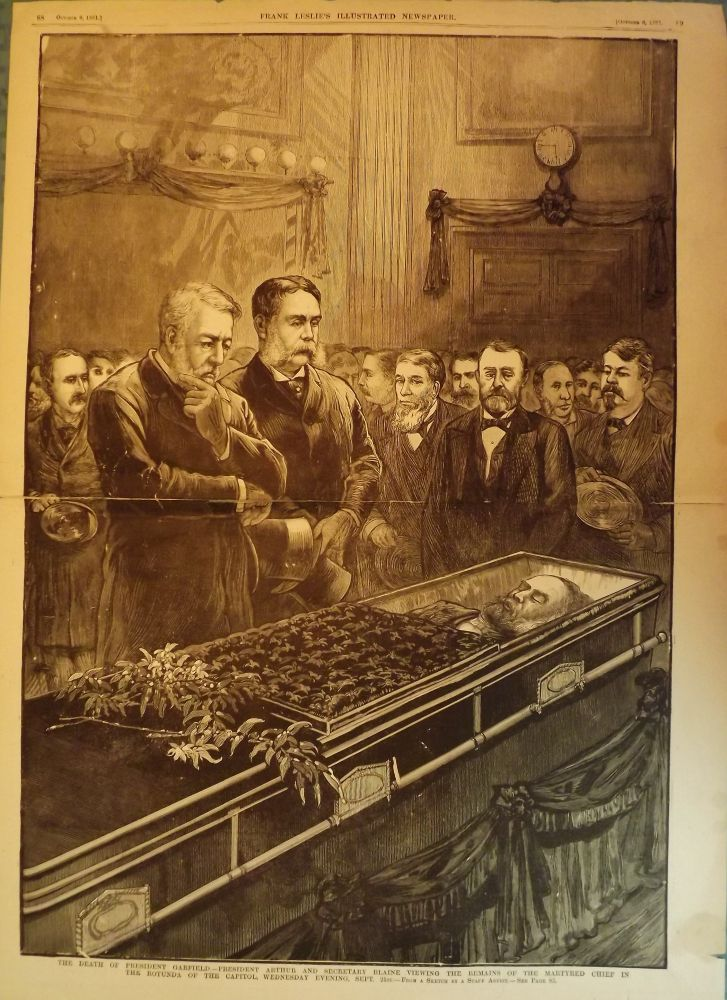 GARFIELD ASSASSINATION PRINT, 1881. FRANK LESLIE'S ILLUSTRATED NEWSPAPER.