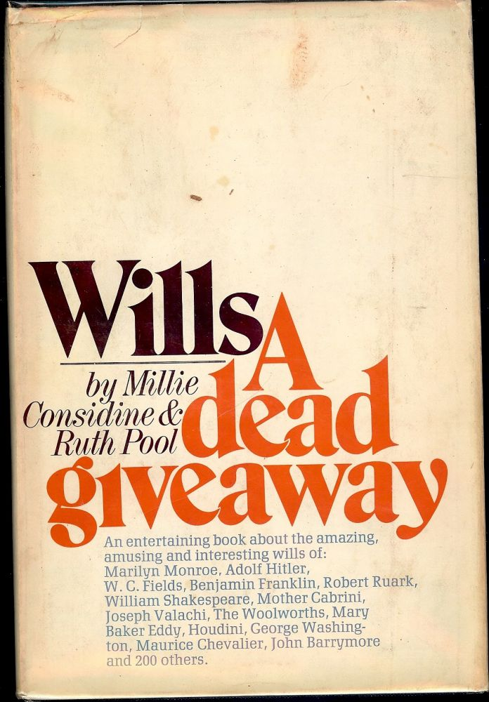 WILLS: A DEAD GIVEAWAY. Millie CONSIDINE.