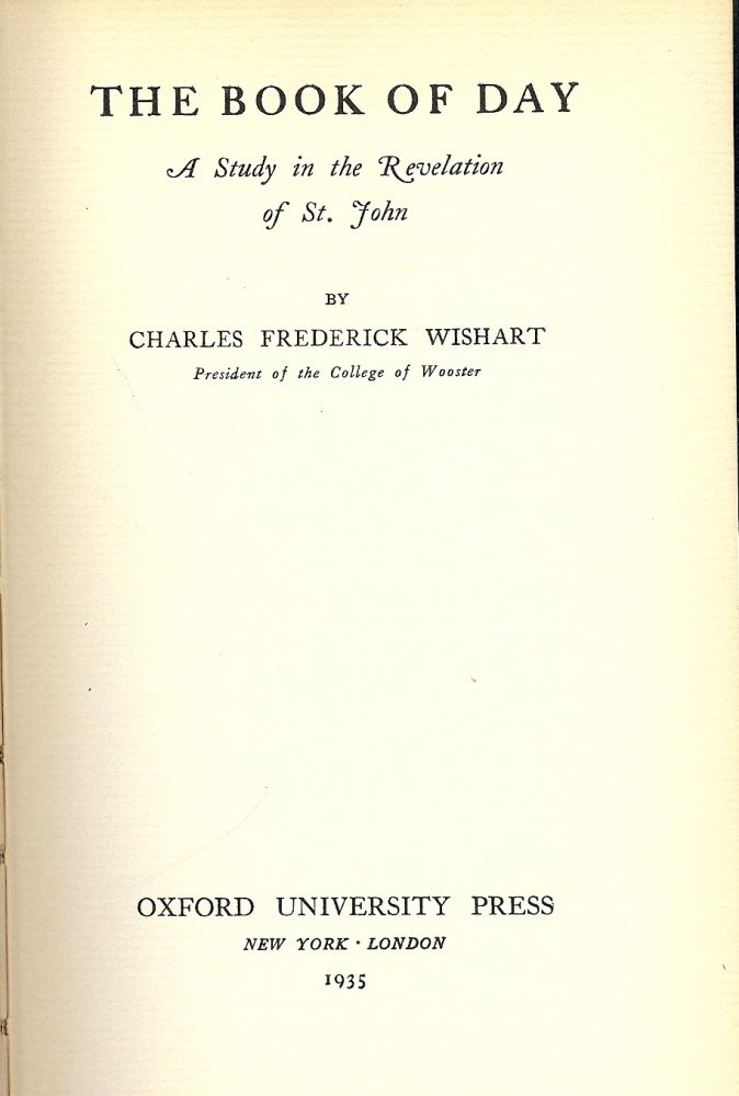THE BOOK OF DAY. Charles Frederick WISHART.