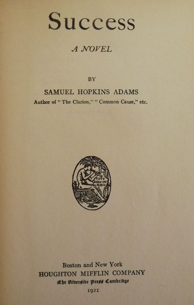 SUCCESS. Samuel Hopkins ADAMS.