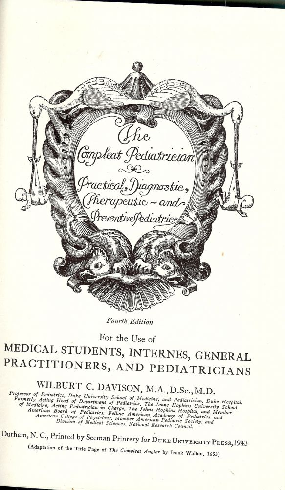THE COMPLEAT PEDIATRICIAN. W. C. DAVISON.