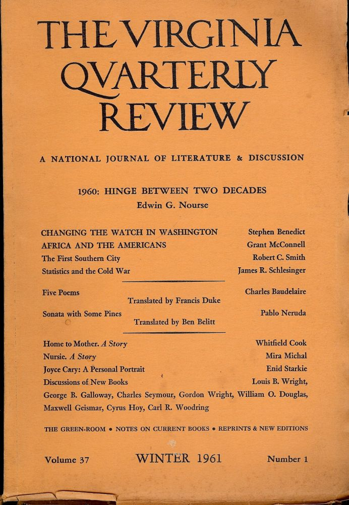 SONATA WITH SOME PINES. Virginia Quarterly Review; Vol.37 ...