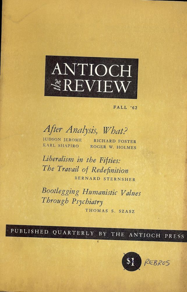 THE THREE HOCKEY GAMES OF T.S. ELLIOT. Antioch Review; Vol. XXII, #3, Karl SHAPIRO.
