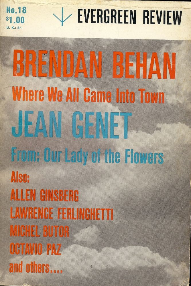 WHERE WE ALL CAME INTO TOWN Evergreen Review Vol 5 No 18 May/June 1961. Brendan BEHAN.