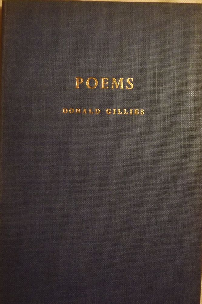 POEMS. Donald GILLIES.