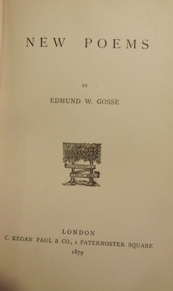 NEW POEMS. Edmund W. GOSSE.