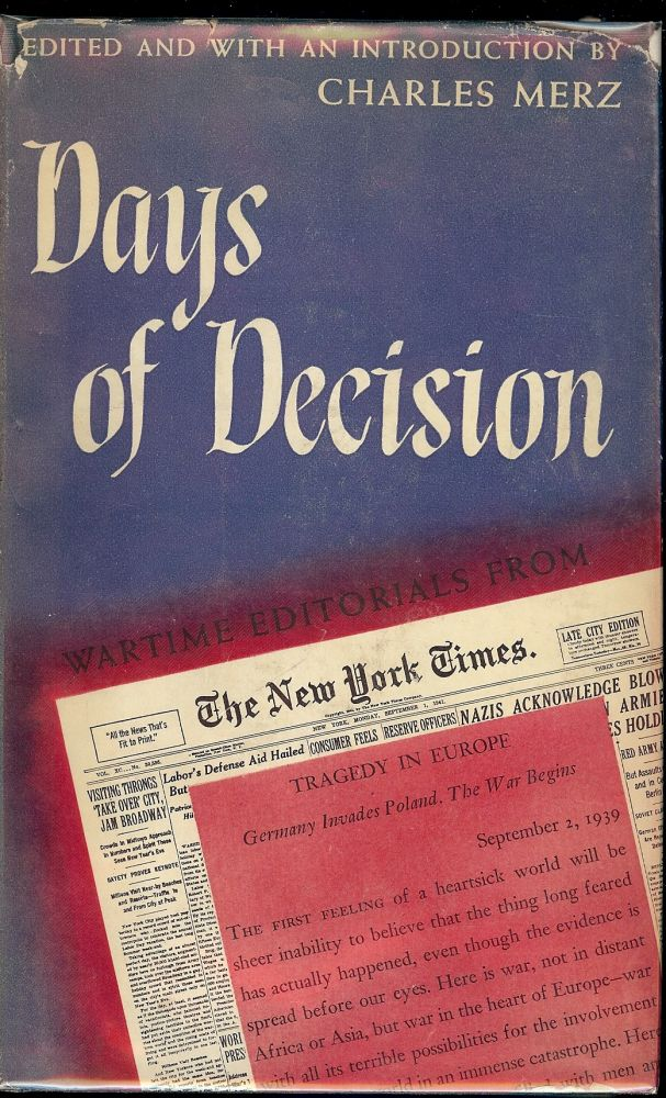 DAYS OF DICISION. Charles MERZ.