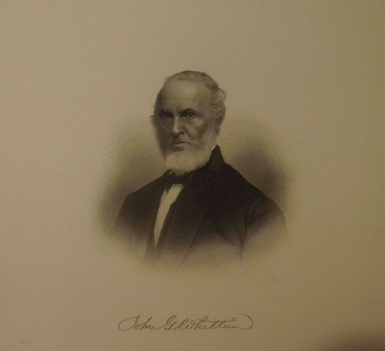 Steel-Engraved Portrait. JOHN GREENLEAF WHITTIER.
