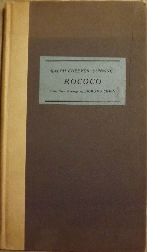 ROCOCO. Ralph Cheever DUNNING.