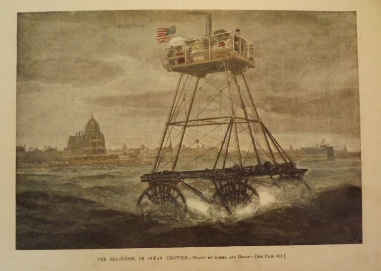 ATLANTIC CITY: BEACH HAMMOCKS/ SEA SPIDER TRICYCLE. HARPER'S WEEKLY.