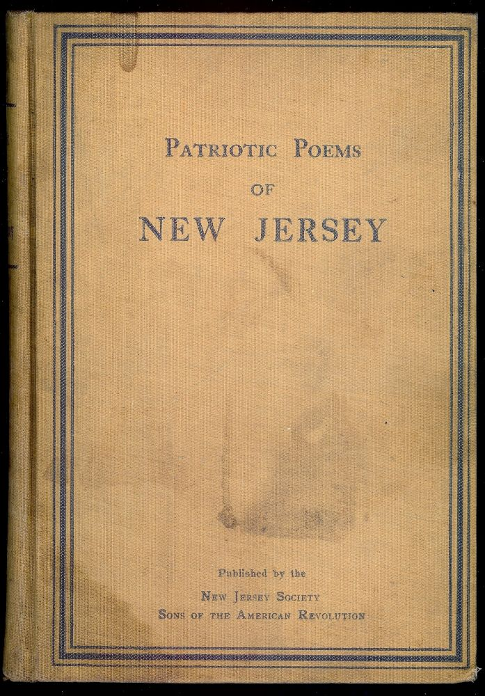 PATRIOTIC POEMS OF NEW JERSEY. William Clinton ARMSTRONG.