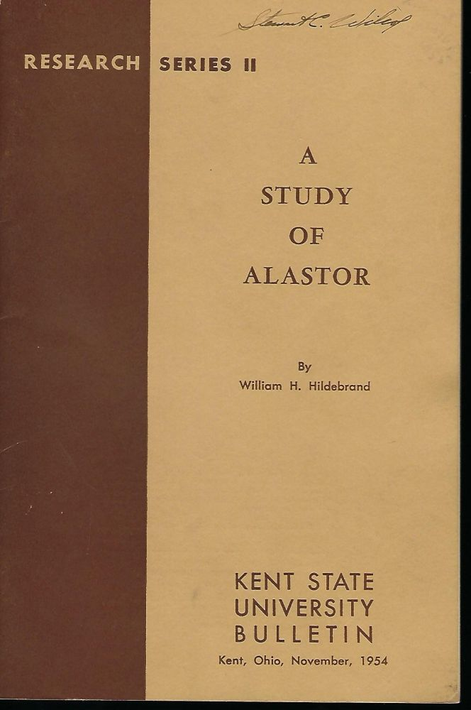 A STUDY OF ALASTOR. William H. HILDEBRAND.