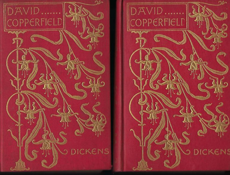 DAVID COPPERFIELD. TWO VOLUMES, ART NOUVEAU BINDING. Charles DICKENS.