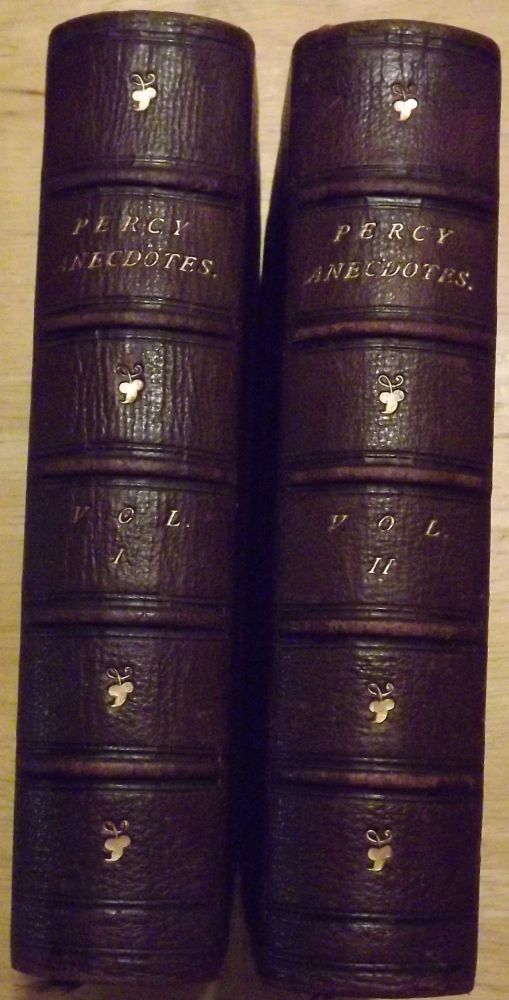 THE PERCY ANECDOTES. TWO VOLUMES. Reuben PERCY, Sholto.