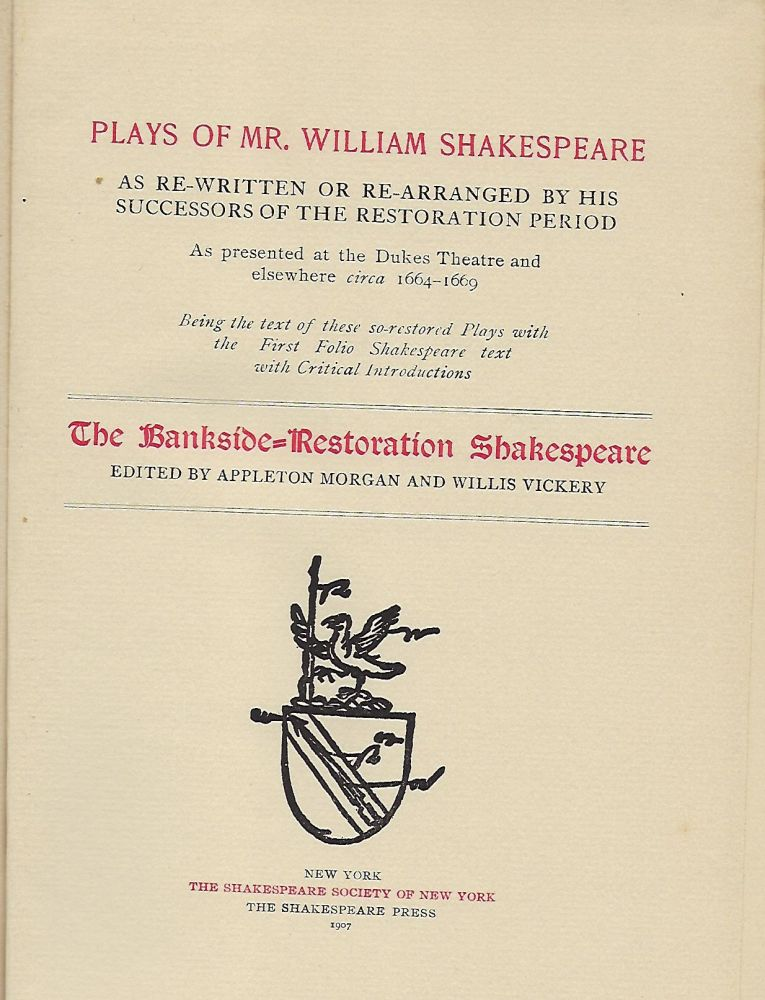 THE LIFE OF TIMON OF ATHENS. William SHAKESPEARE.