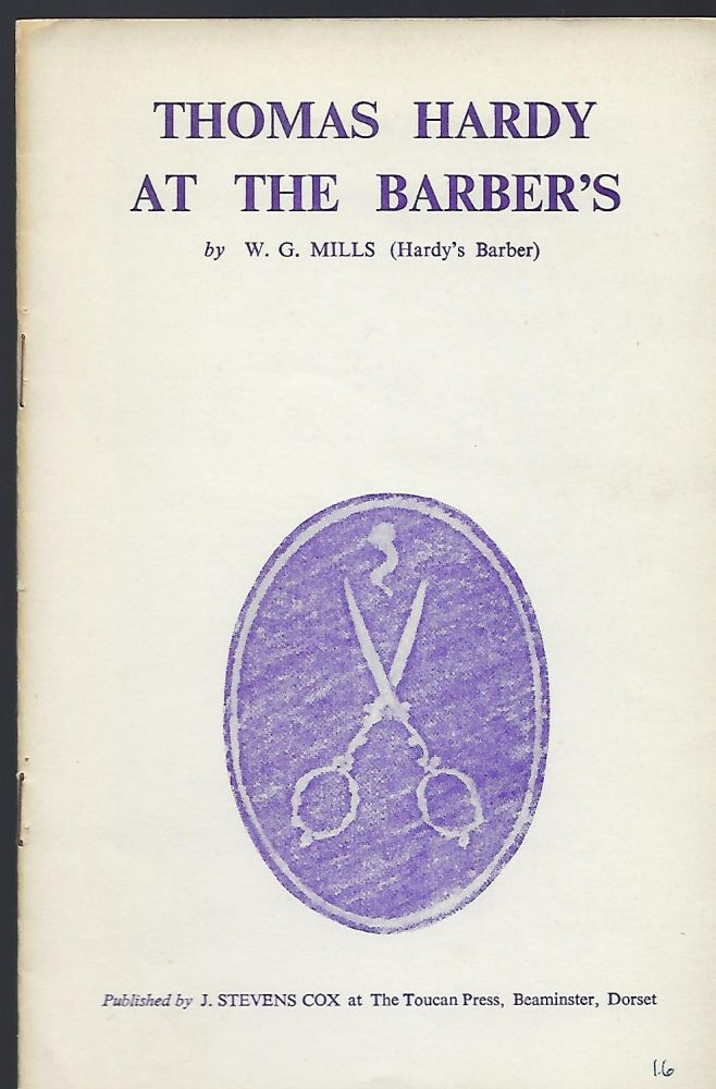 THOMAS HARDY AT THE BARBER'S. W. G. MILLS.