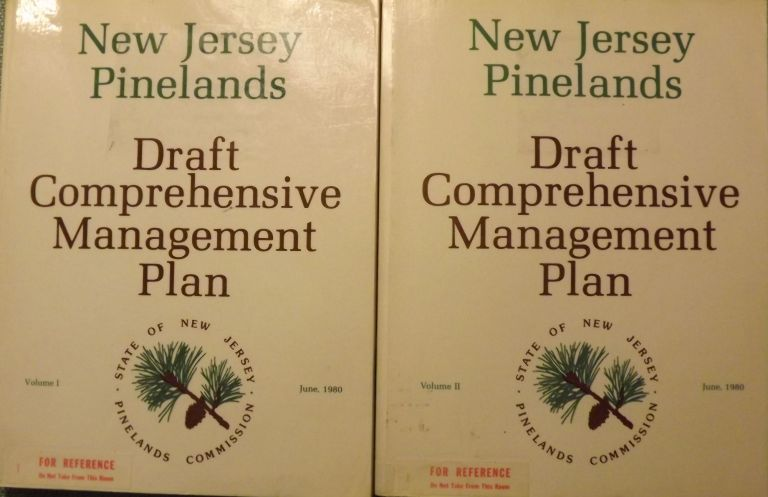 NEW JERSEY PINELANDS: DRAFT COMPREHENSIVE MANAGEMENT PLAN. TWO VOLUMES. PINELANDS COMMISSION.
