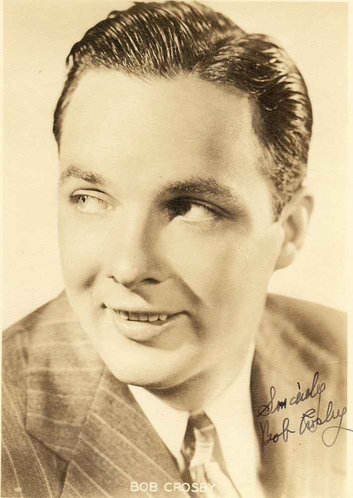 SIGNED PHOTOGRAPH. Bob CROSBY.