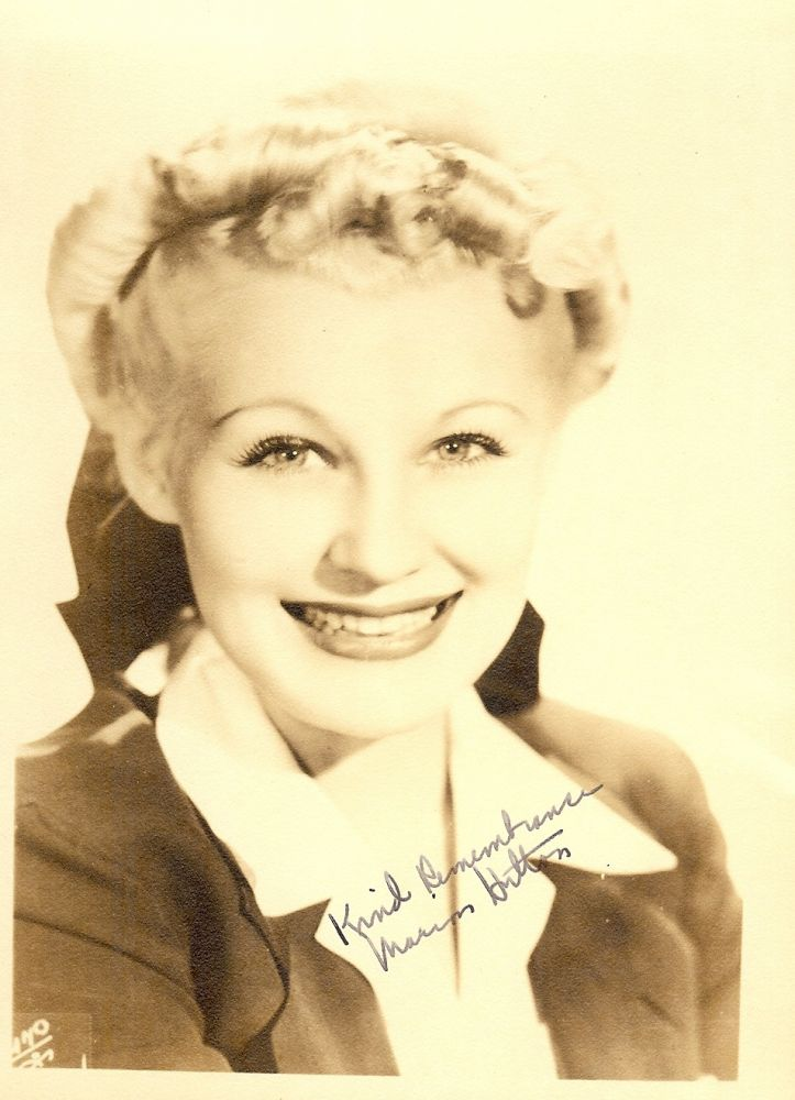 SIGNED PHOTOGRAPH. Marion HUTTON.