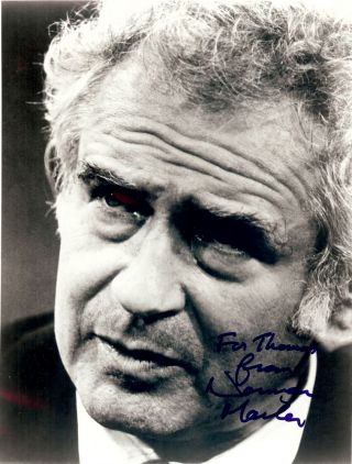 SIGNED PHOTOGRAPH. NORMAN MAILER