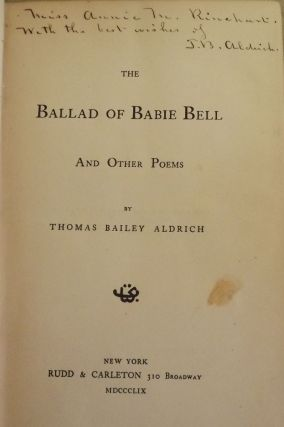 THE BALLAD OF BABIE BELL. THOMAS BAILEY ALDRICH